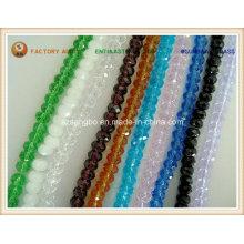 Perla de cristal medallón de cristal del grano / facetas grano