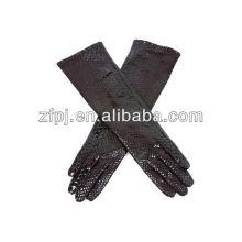 Damen extra lange Falke Haut Leder Handschuhe