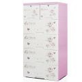Design d'impression de mode Cabinet de rangement en plastique pour tiroirs (HW-L710)