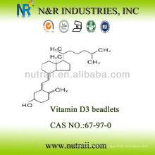 Fournisseur fiable Vitamine D3 Beadlet 100,000IU / g CAS # 67-97-0
