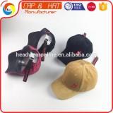 Flat Embroidery Baseball Cap Velvet Fabric Dad Hat