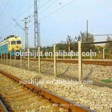 Clôture en treillis métallique en PVC (Oushijia)