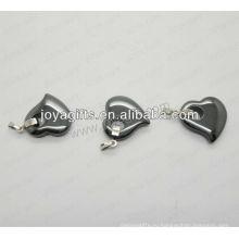 01P1005S / кулон формы сердца / очарование сердца / полый сердечный фитинг / фигурный аксессуар с серебряным нахождением / полый подвесной персик