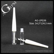 Lindo plástico redondo tubo de brillo de labios AG-LPG36, empaquetado cosmético de AGPM, colores/insignia de encargo