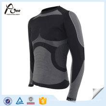 Camisas termales de nylon del poliéster Ropa interior termal básica atractiva de los hombres