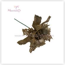 Fleurs décoratives artificielles de X'mas de PVC pour la décoration d'arbre de Noël