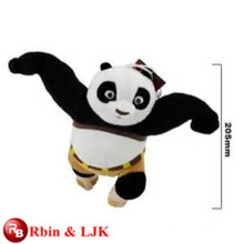 OEM soft ICTI juguete de peluche fábrica kungfu panda juguete de peluche
