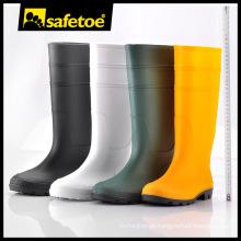 Botas de chuva moda geléia, Gumboots de borracha natural, botas de chuva dobrável homens W-6036