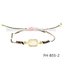 Venta por mayor personalizados expansible trenzado pulsera