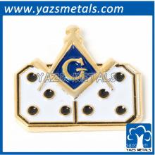 custom masonic pin badge