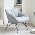 Hot sale home relax reclining couch modern linen fabric sofa chair with black metal legs