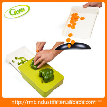 Planche à découper flexible avec tiroir