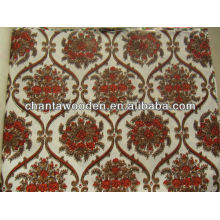 decorative Melamine/Grooved overlaid polyster paper laminated plywood