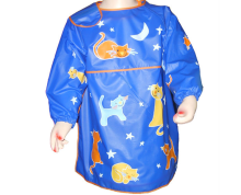 long sleeve plastic art panting apron smock for kids