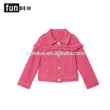 Fashion denim kids ruffle jeans jacket Fashion denim kids ruffle jeans jacket denim jacket kids