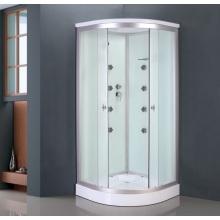 Cabine de duche de vidro branco pintado (ADL-8701)