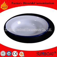 Enamel Pie Dish Sunboat Ktchen Plate Cookware