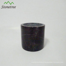 Black granite candle jar marble stone candle cup