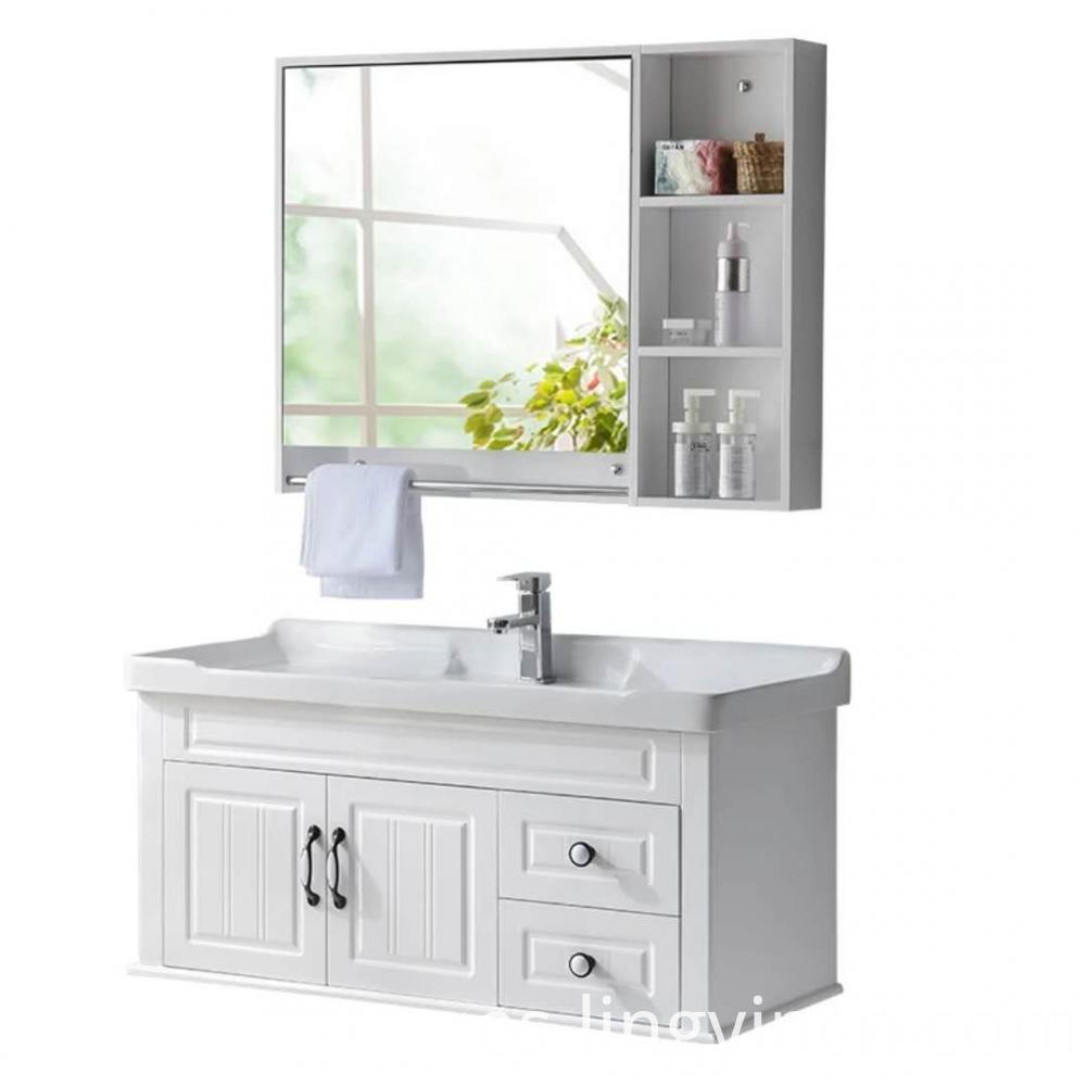 new bathroom sink with cabinet