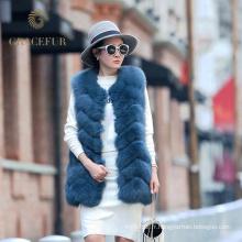 Confortable costume femme réel veste en fourrure de renard
