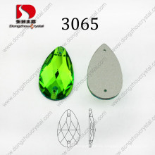 Most Popular Drop Peridot Sew on Rhinestone Flat Back