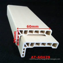 WPC Architrave PVC Architrave para puerta WPC laminado Architrave at-60h29