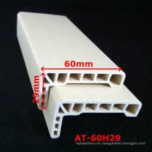 WPC Architrave PVC Architrave para marco de la puerta de WPC Laminado Architrave at-60h29