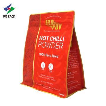 Bolsa de fondo plano para bolsa de envasado de chile en polvo