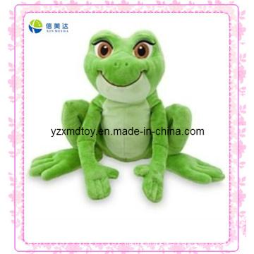 Verde jumping rana electrónico juguetes de felpa (xdt-0026q)