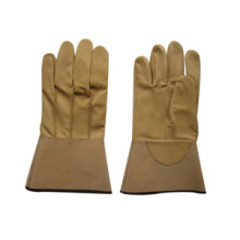 Gelber Schweinekorn-Leder-WIG-Schweißarbeits-Handschuh-6503
