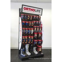 Portable Safety Security Produkte Ausstellung Freie stehende Pegaboard Display Racks für Apotheke