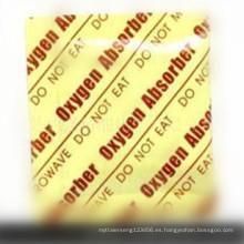 Desoxidante del absorbente de gas del oxígeno de la categoría alimenticia