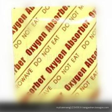 Désoxydant d'absorbeur de gaz d'oxygène de catégorie comestible