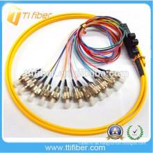 FC 12 Farben Ribbon Fiber Optical Pigtail