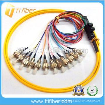 FC 12 Couleurs Ruban Fibre Optique Pigtail