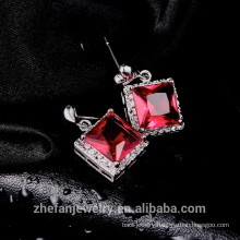 dubai fashion jewelry earring square cz Christmas gift