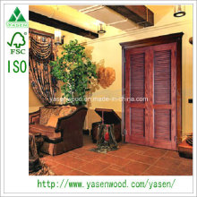 Best Price Solid Louver Door with Fsa ISO9001