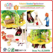 Wooden Tree Doll House
