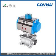 3PC pneumatic ball valve 1000WOG HK046