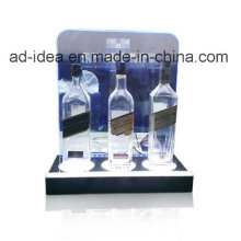 Suporte acrílico do vinho / suporte de exposição acrílico para a propaganda do vinho da loja