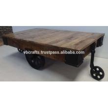 Vintage Industrial Cart Table