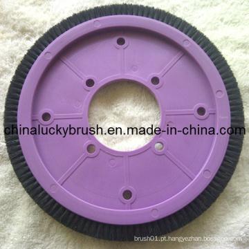 Nylon ou cerda material têxtil redonda escova (yy-252)