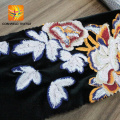 high quality lace embroidered velvet fabric for dress