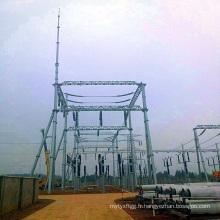 Structure de sous-station de transmission de puissance de tuyauterie 220 Kv