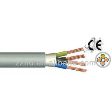 Cable de PVC / NVV NYM Cable de PVC con recubrimiento de PVC