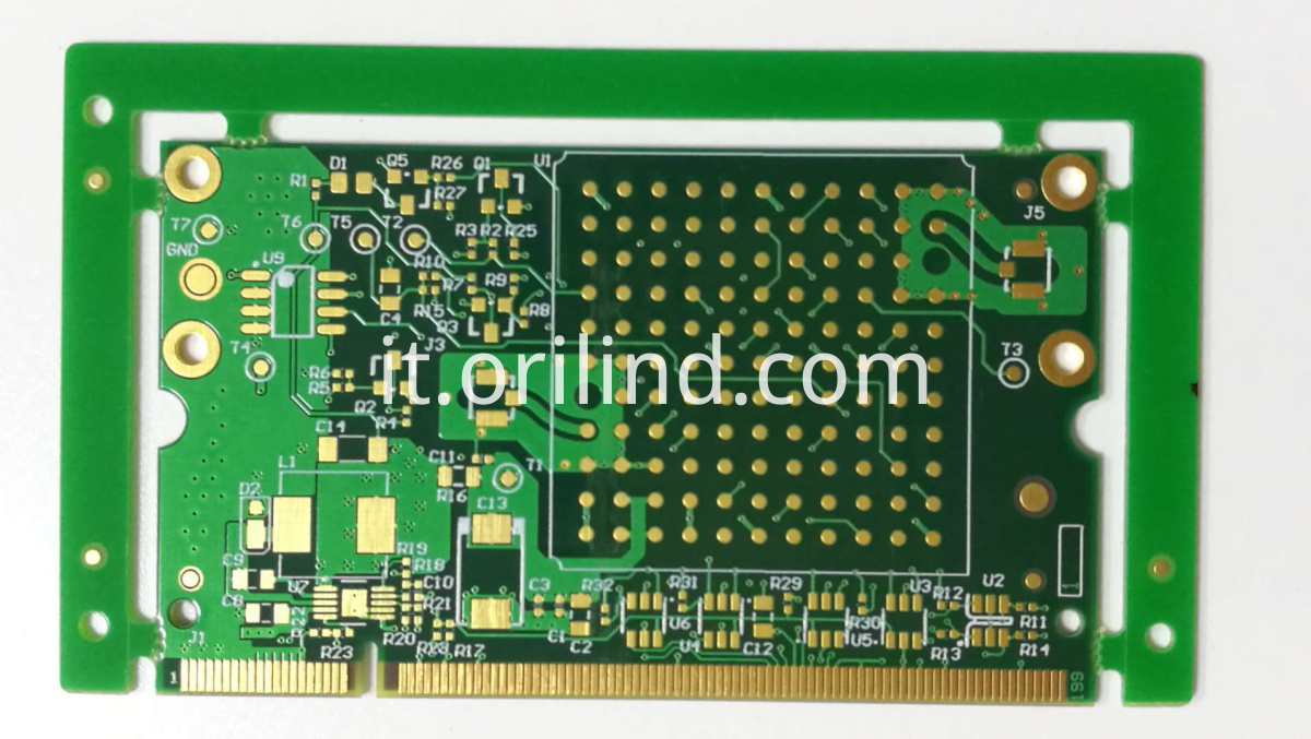 Gold finger circuit board