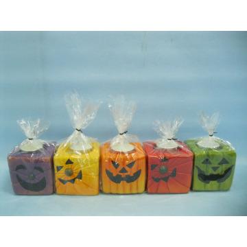 Artisanat en céramique en forme de bougie de Halloween (LOE2372E-7z)