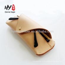 Novos produtos de couro saco cosmético com preço baixo