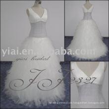 2011 neueste Ankunft des niedrigen Preises des Verschiffens hochwertiges reales Feder-Brautkleid JJ2327