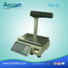 TM-B: nueva escala de impresión de etiquetas de códigos de barras para el peso